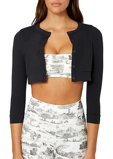 WeWoreWhat Cropped Button-Front Cardigan