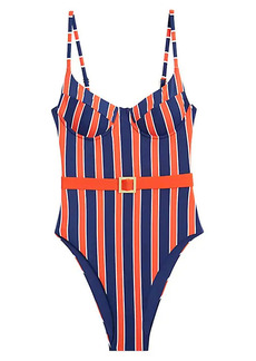 WeWoreWhat Danielle 1-Piece Striped Swimsuit