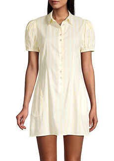 WeWoreWhat Elle Striped Mini Shirt Dress