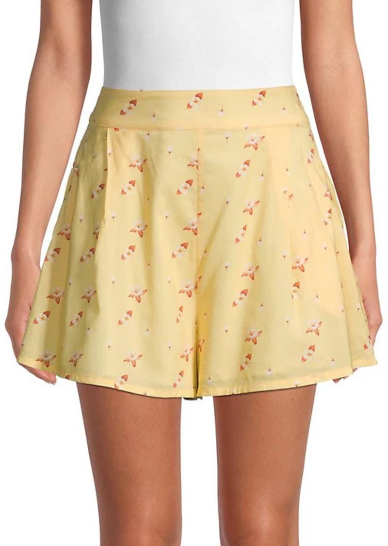 WeWoreWhat Floral-Print Cotton-Blend Shorts