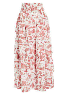 WeWoreWhat Paloma Tiered Toile Skirt
