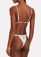 WeWoreWhat Ruched Vintage Toile Bikini Bottoms