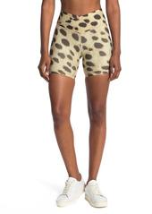 WeWoreWhat Splice Cheetah Print Bike Shorts