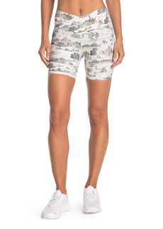 WeWoreWhat Overlay Banded Waist Printed Bike Shorts