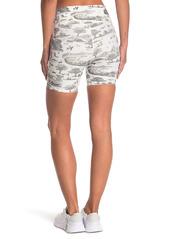 WeWoreWhat Overlay Banded Waist Printed Bike Shorts