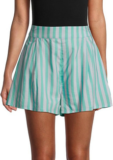 WeWoreWhat Striped Cotton-Blend Shorts