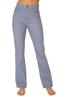 WeWoreWhat We Wore What High Waist Baby Bootcut Jeans (Grey Blue)