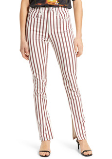 WeWoreWhat We Wore What Stiletto Stripe High Waist Skinny Jeans (Ivory)
