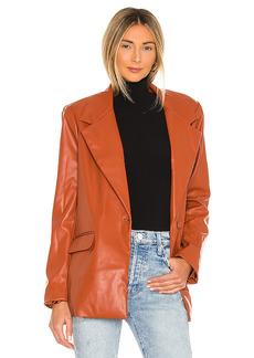 WeWoreWhat Downtown Vegan Leather Blazer