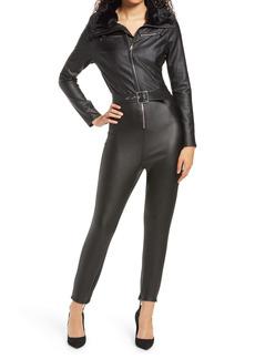 WeWoreWhat Faux Leather & Faux Fur Ski Suit