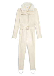 WeWoreWhat Faux Leather & Faux Fur Ski Suit