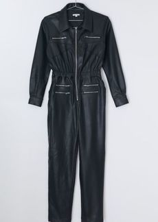 WeWoreWhat Faux Leather Utility Jumpsuit