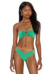 WeWoreWhat Necklace Bandeau Bikini Top