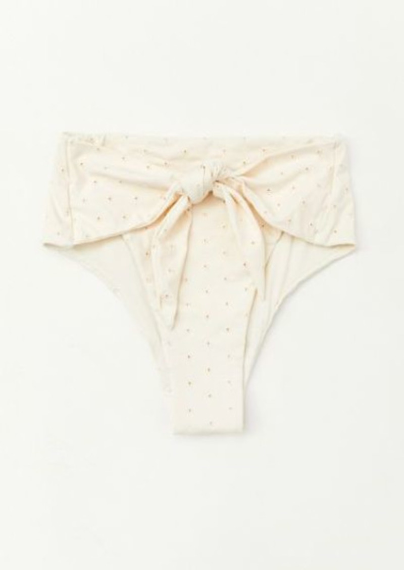 WeWoreWhat Riviera Tie Waist High-Waisted Bikini Bottom