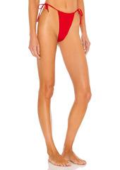 WeWoreWhat Ruched String Bikini Bottom