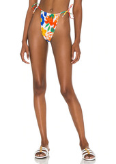 WeWoreWhat Ruched String Bikini Bottom