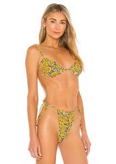 WeWoreWhat Ruched Underwire Bikini Top