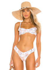 WeWoreWhat Ruffle Bikini Top