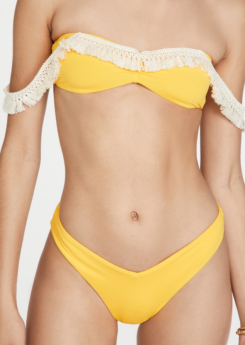 WeWoreWhat Tassel Bikini Top