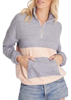 Wildfox Lea Colorblock Half Zip Sweatshirt