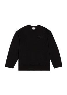 Y-3 Yohji Yamamoto Chest Logo Crew Sweatshirt