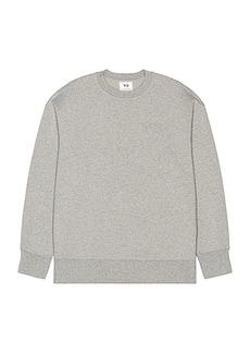 Y-3 Yohji Yamamoto Classic Chest Logo Crew Sweatshirt