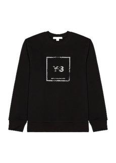 Y-3 Yohji Yamamoto U Square Label Graphic Sweatshirt