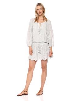 Young Fabulous & Broke Women's Junia Dress Light Grey/White o L