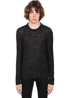 Yves Saint Laurent Embellished Mohair Blend Sweater