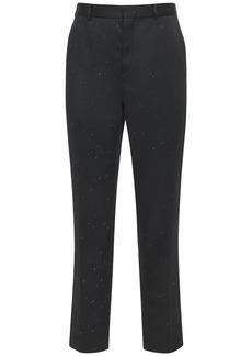 Yves Saint Laurent Flame Embroidery Tech & Silk Pants