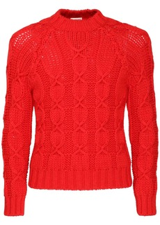 Yves Saint Laurent Laine Knit Wool Blend Sweater