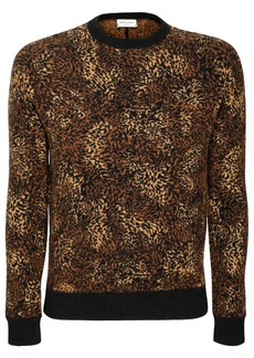 Yves Saint Laurent Leopard Jacquard Alpaca Blend Sweater