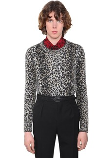 Yves Saint Laurent Mohair & Wool Jacquard Sweater