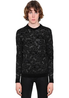Yves Saint Laurent Radio Viscose Blend Jacquard Sweater