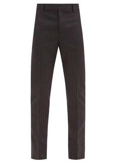 Yves Saint Laurent Saint Laurent Chalk-stripe wool-twill trousers