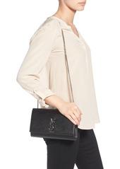 Saint Laurent Medium Kate Leather Wallet on a Chain