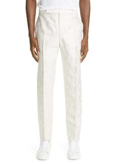 Yves Saint Laurent Saint Laurent Men's Parasol Jacquard Wool & Silk Slim Pants