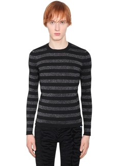 Yves Saint Laurent Striped Lurex Wool Sweater