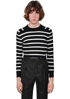 Yves Saint Laurent Striped Virgin Wool Sweater