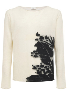 Yves Saint Laurent Tropical Linen Blend Knit Sweater