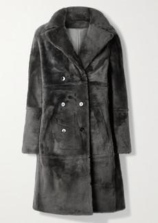 Yves Salomon Lacon Double-breasted Shearling Coat