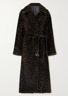 Yves Salomon Reversible Leopard-print Shearling Coat