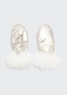 Yves Salomon Mittens Technical Fabric Fox