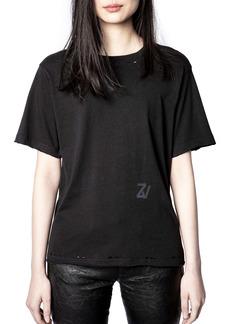 Zadig & Voltaire Bowi Monogram Distressed T-Shirt