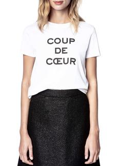 Zadig & Voltaire Joe Coup de Cœur Graphic Tee