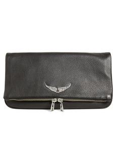 Zadig & Voltaire Rock Leather Clutch - Black