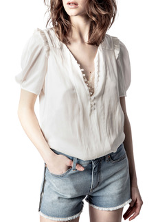 Zadig & Voltaire Ruffle Satin Blouse