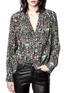 Zadig & Voltaire Tink Kaleido Floral Top