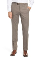 Zanella Parker Flat Front Textured Wool Trousers