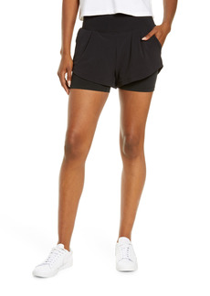 Zella High Waist Double Shorts